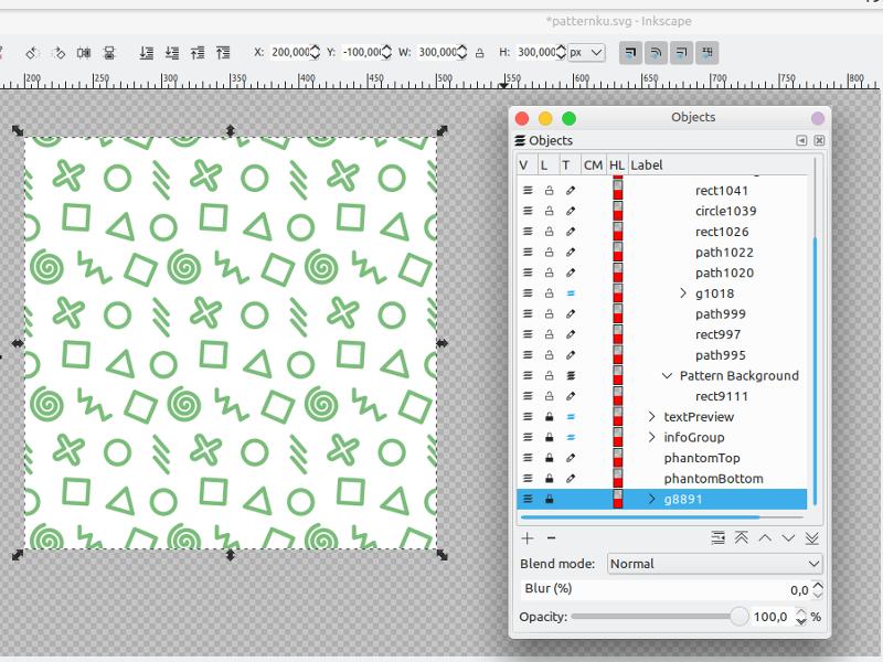 Cara Membuat Desain Seamless Pattern Dengan Inkscape