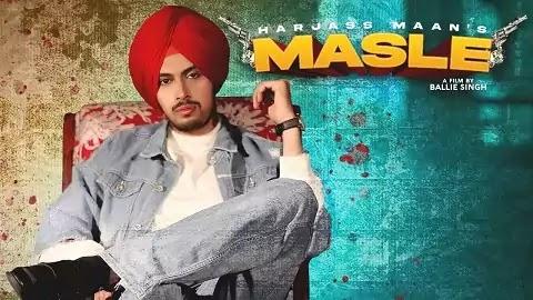 Masle Lyrics Hindi Font | Harjass Maan