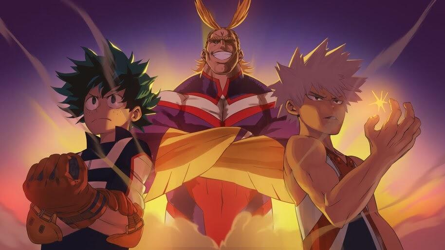 My Hero Academia All Might Izuku Katsuki 4k Wallpaper 5411