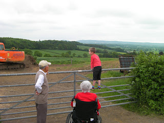 wheelchair user in the countryside