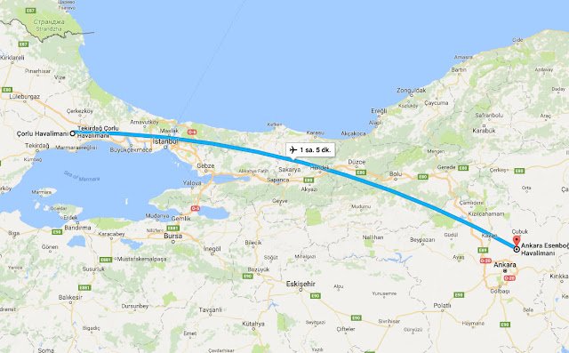 Tekirdağ'dan Ankara'ya uçak bileti