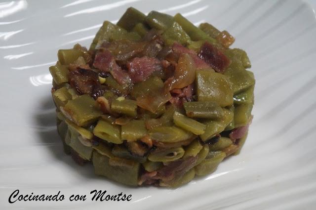 Cocinando con montse jud as verdes con cebolla y jam n - Tiempo coccion judias verdes ...