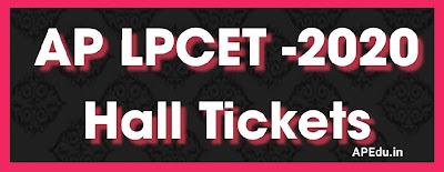 AP LPCET -2020 Hall Tickets