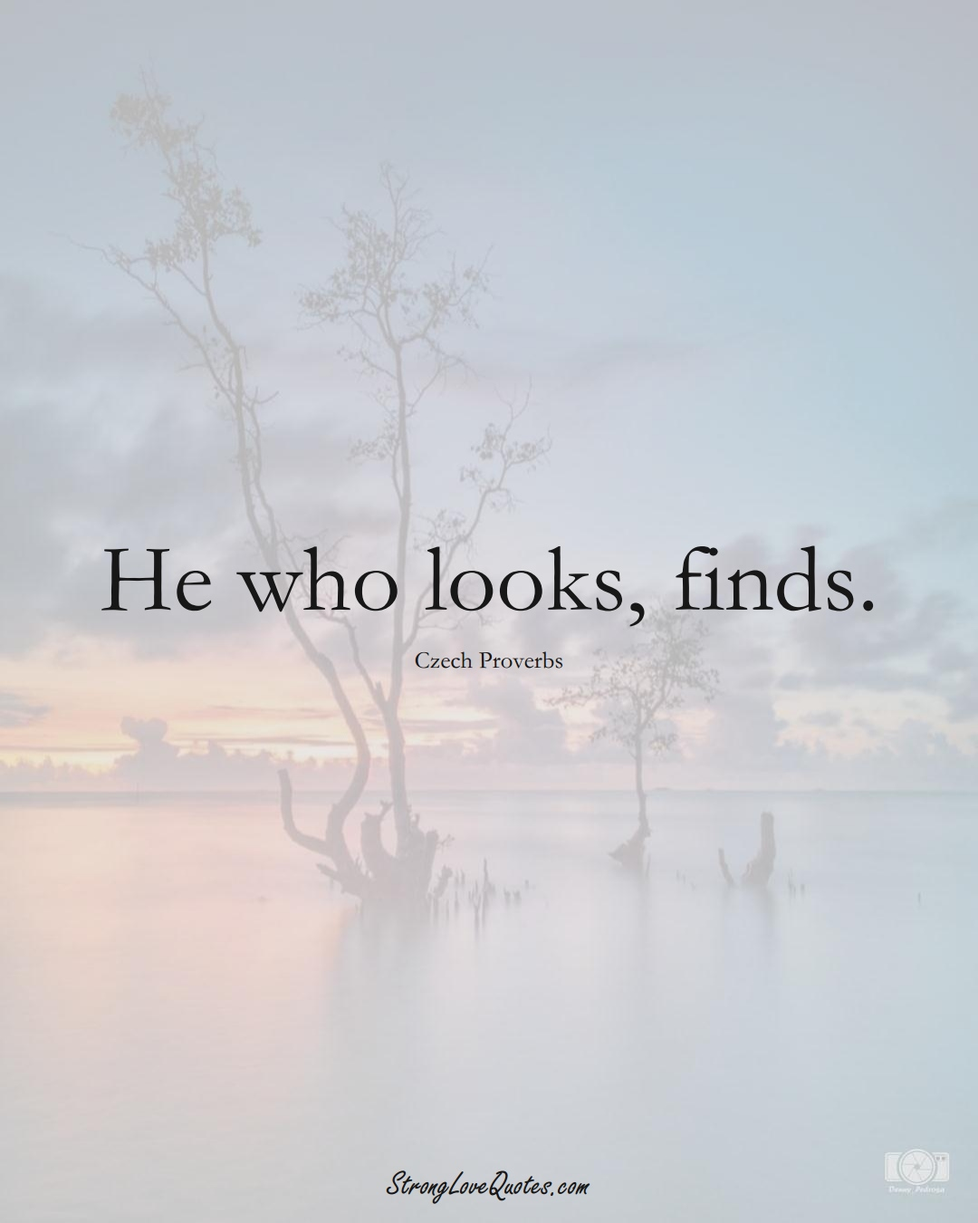 He who looks, finds. (Czech Sayings);  #EuropeanSayings