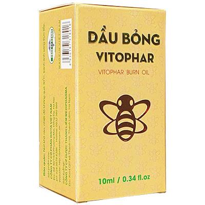 Dầu Bỏng Vitophar, hỗ trợ làm se bề mặt vết bỏng, tránh viêm nhiễm