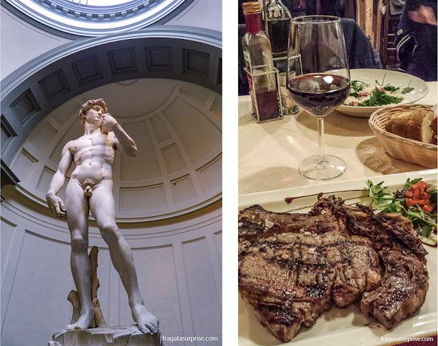 David de Michelangelo e bisteca florentina