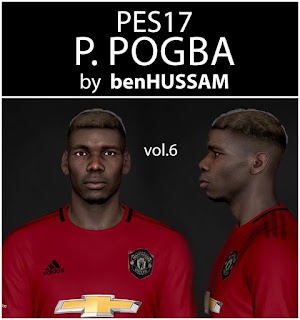PES 2017 Faces Paul Pogba by BenHussam