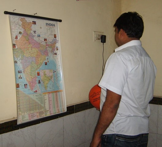 Jitendra Jain looking at Indian Map in 2007