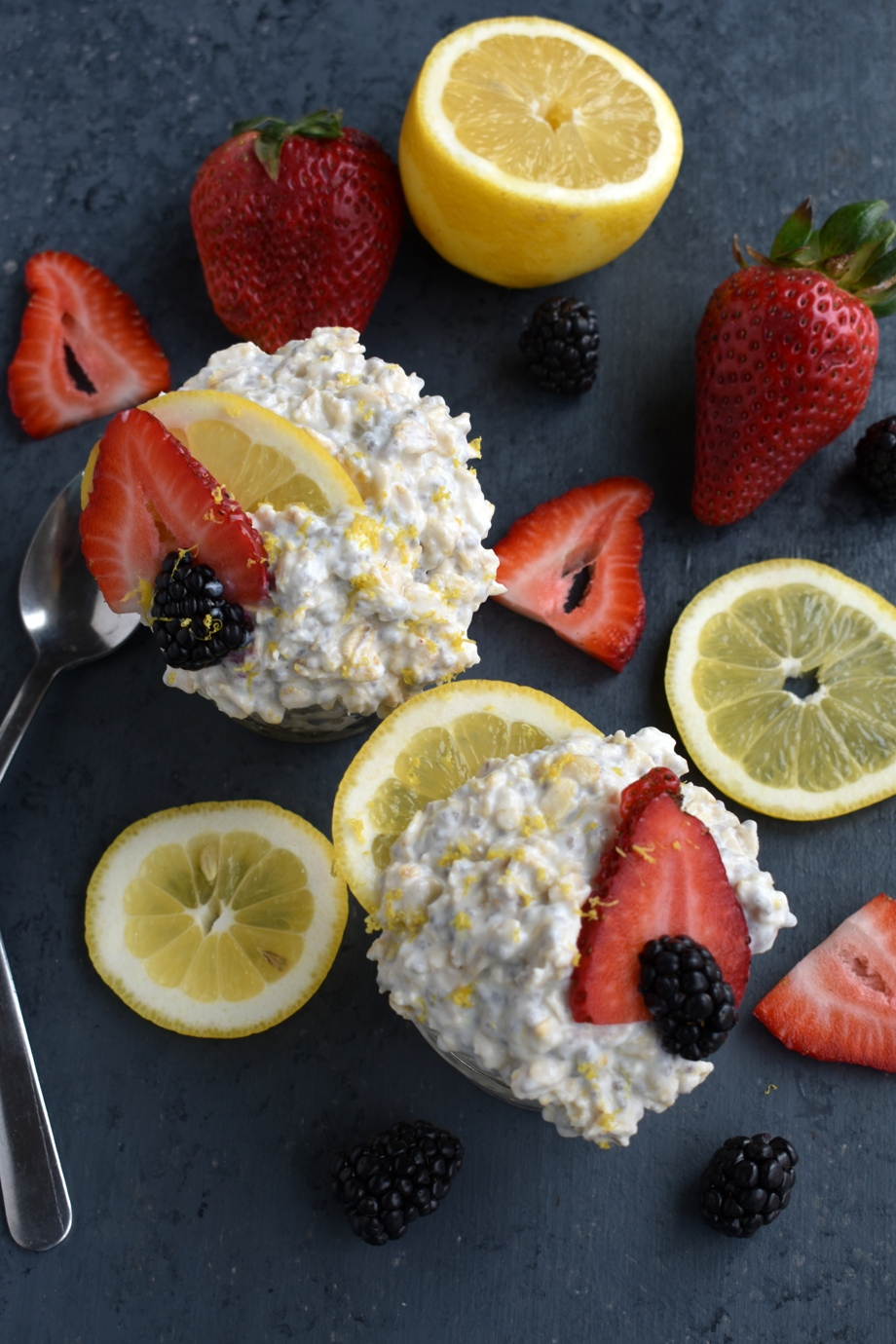 Lemon Cheesecake Overnight Oatmeal