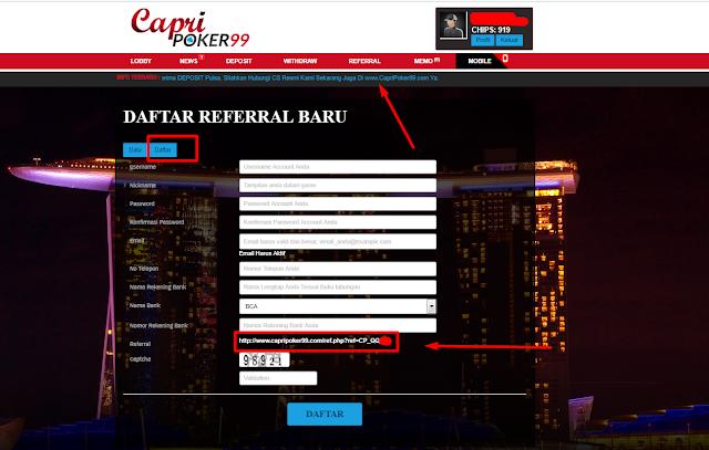 bonus referensi poker , referal capripoker99 , bonus refferal , referensi capripoker99