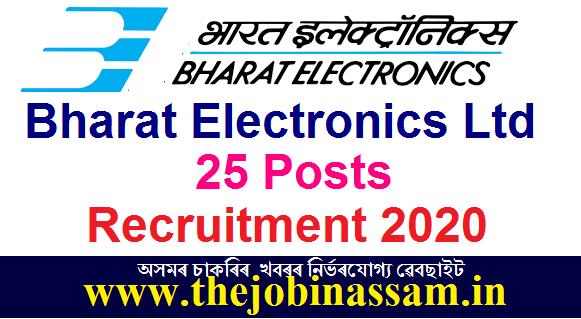 Bharat Electronics Ltd Recruitment 2020