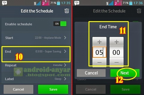 How to auto enable and disable air plane mode on Android without root