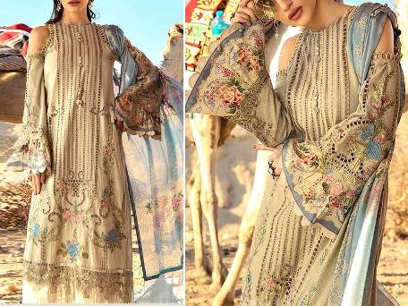 Embroidered Lawn Dress