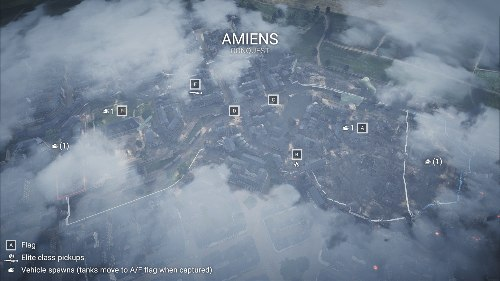 Amiens 1 Flak Locations