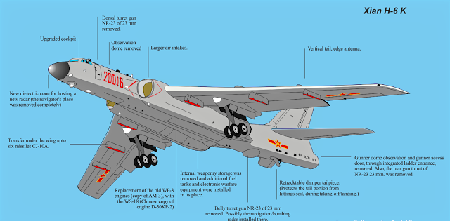 Xian H-6K The Bomber Aircraft of PLAAF