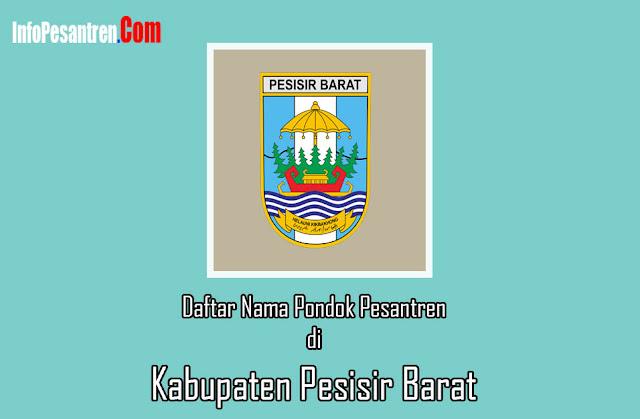 Nama Pondok Pesantren di Kabupaten Pesisir Barat