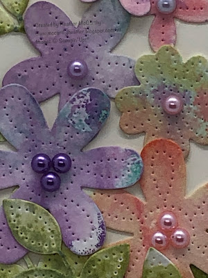 stampin' Up! Pierced Blooms dies, In Bloom stamps, watercolour