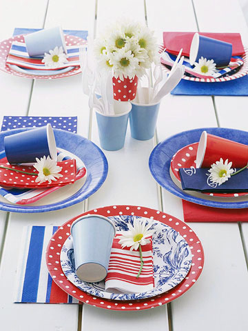 10 Beautiful Patriotic Tablescapes Remodelando La Casa