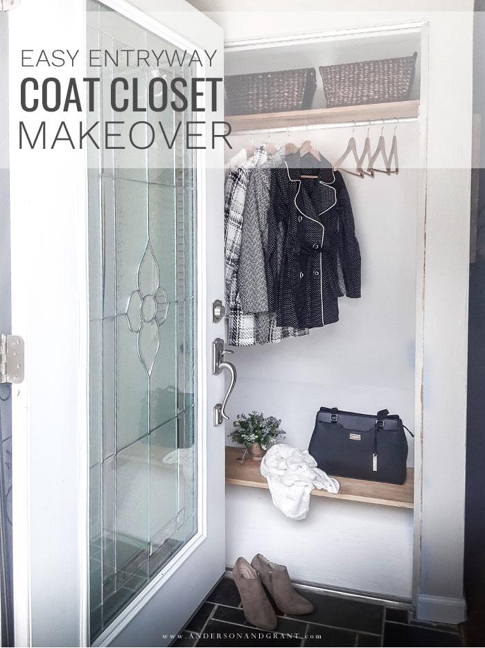 Coat closet makeover