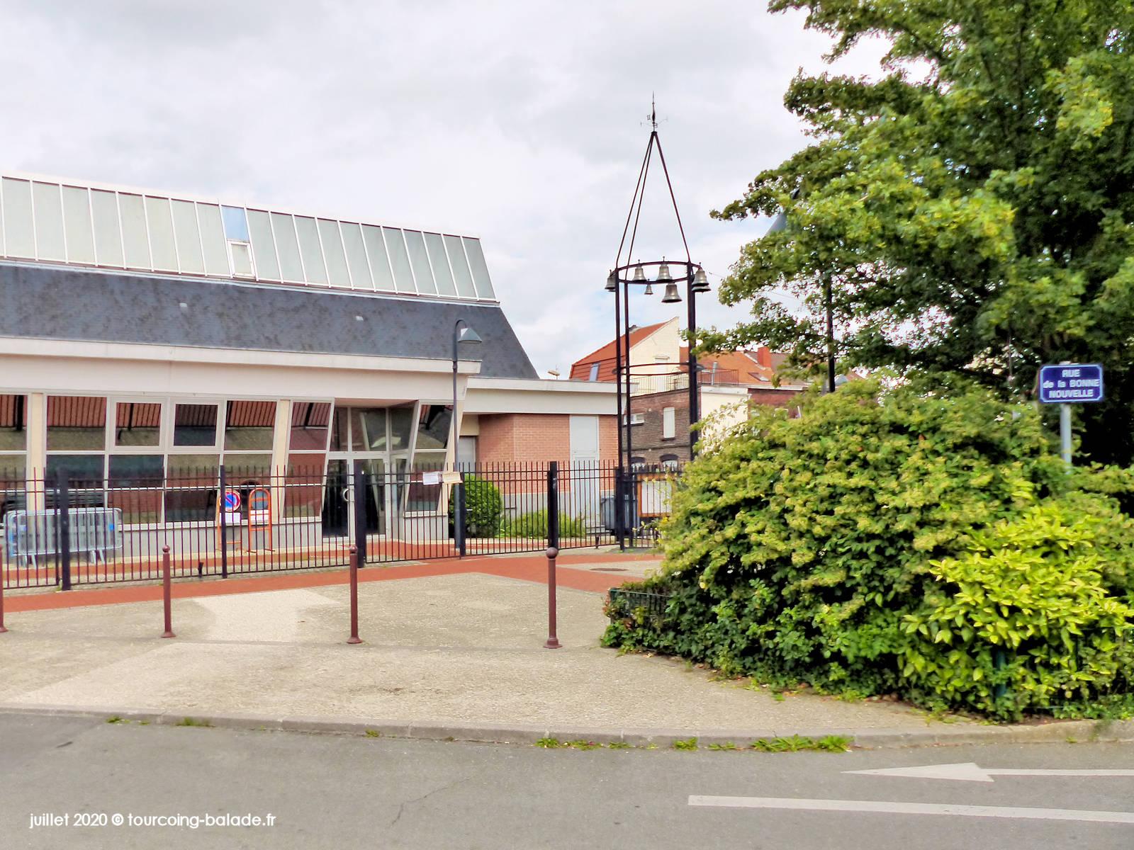 Entrée principale de l'église Saint Joseph, Tourcoing 2020