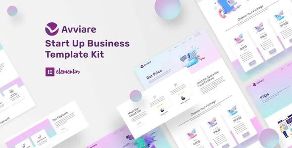 Best Start Up Business Elementor Template Kit