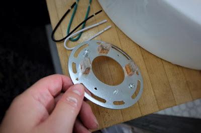 wiring plug bracket install light fixture vanity bathroom