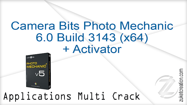 Camera Bits Photo Mechanic 6.0 Build 3143 (x64) + Activator    |  178 MB