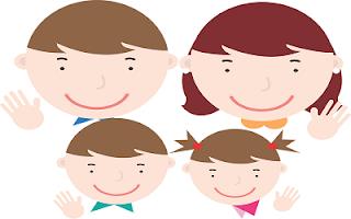 Famiglia cartone animato