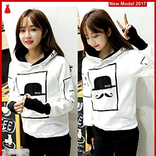 MSF0177 Model Sweater Hoodie Roundhand Moustache
