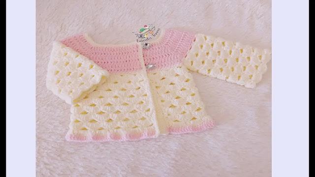 Como Tejer Abrigo de Bebé o Sweater a Crochet