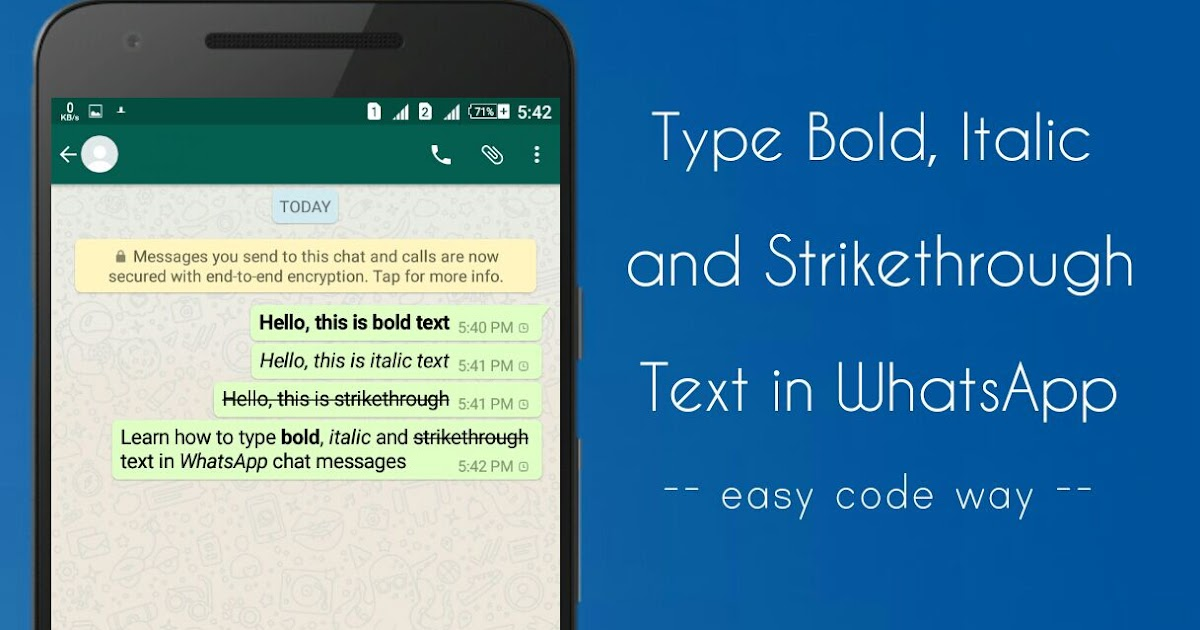 How to Type Bold, Italic and Strikethrough Text in WhatsApp