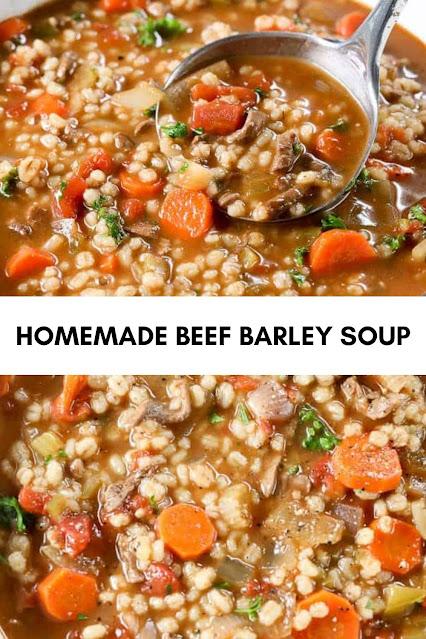 HOMEMADE BEEF BARLEY SOUP