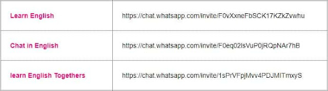 chat in english whatsapp group