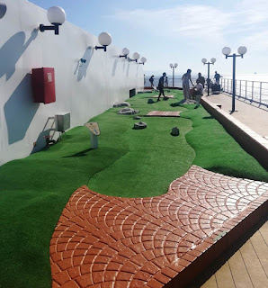 Minigolf course on the MSC Opera. Photo by Karl & Sophia Moles, October 2019