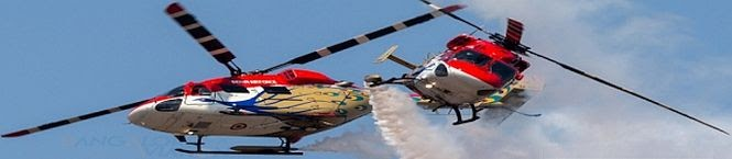 Indian Air Force's Sarang Helicopter Performs At Moscow Air Show