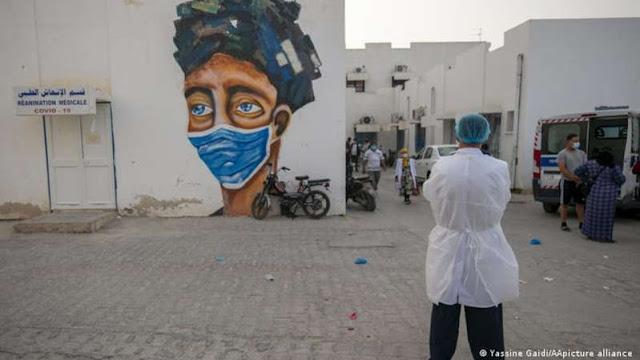 """تونس.. """"انهيار""""المنظومة الصحية بسبب تفشي كورونا"""