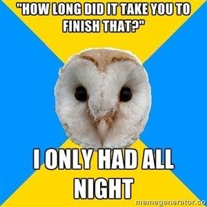 bipolar owl sleep meme mania