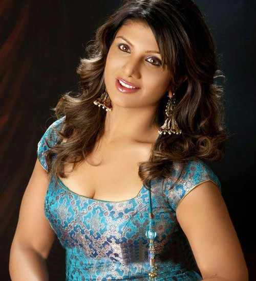 Tollywood Actress Rambha Photos In Blue Dress