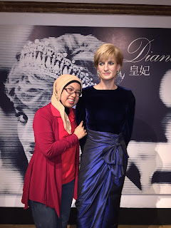 Mengagumi Putri Diana di Madam Tussaud Hongkong