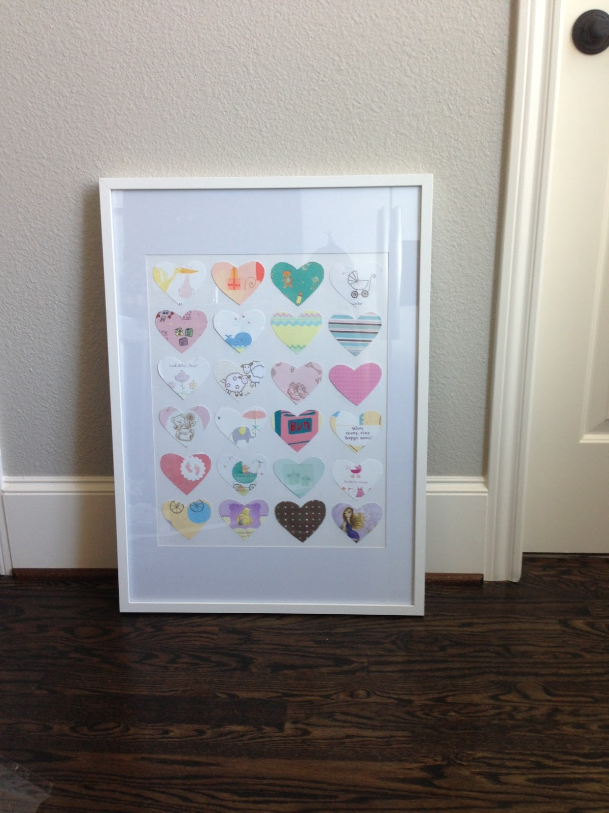 DIY: Transform Your Baby Shower Cards into Nursery Art! - Veronika\'s ...