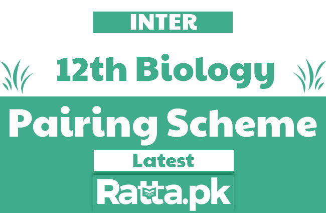 2nd Year/12th Biology Pairing Scheme 2019 - combination