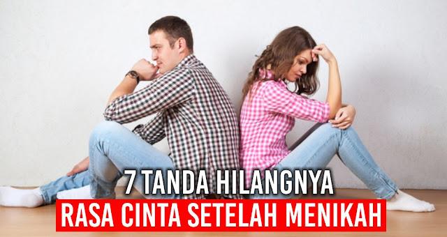 7 Tanda hilangnya rasa cinta setelah menikah