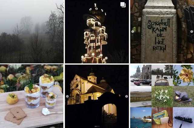 Collage Instagram-Fotos Dezember 2018