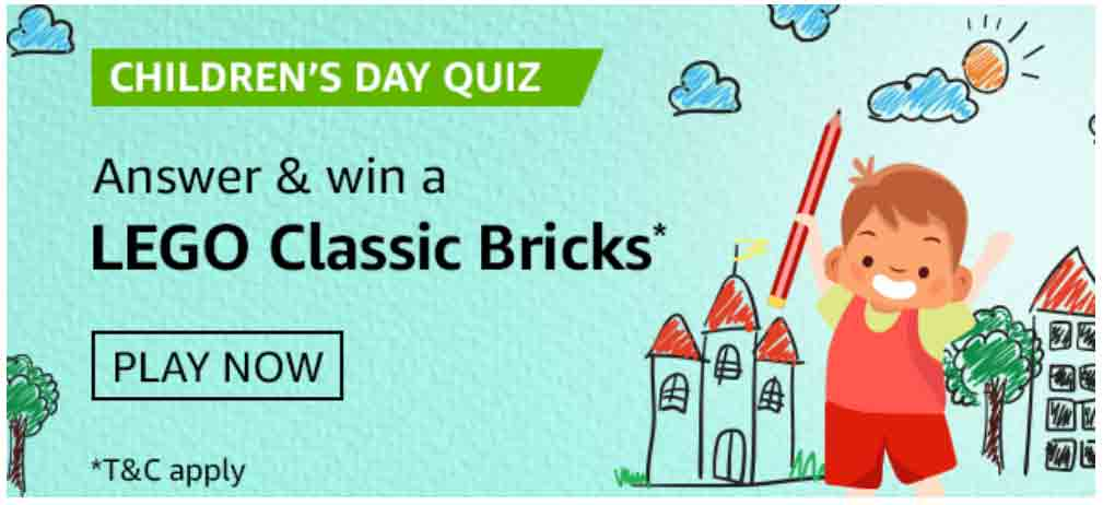 Amazon Children's Day Quiz Answers