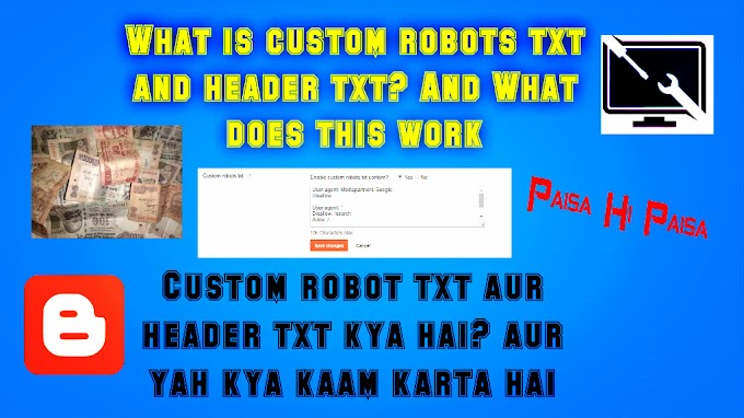 What is custom robots txt and header txt