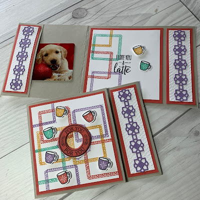 Coffee mugs card using Warm Hugs Stamp Set from Stampin' Up!