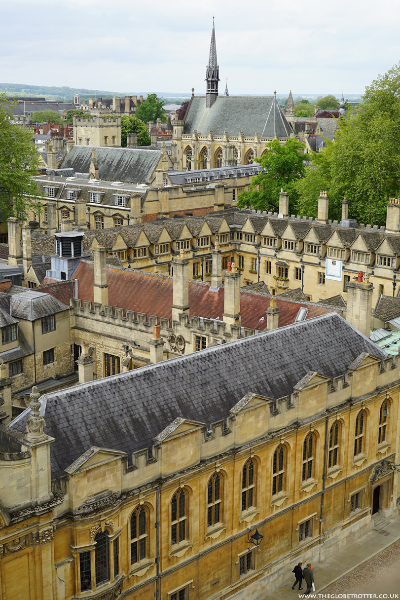 Views of Oxford City from top of St Mary Church