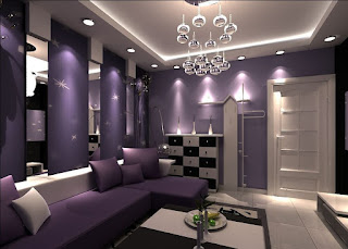 Purple-Color-Living-Room-Contemporary-Homes