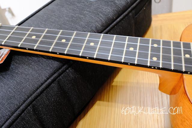 Kanile'a SUS-T Tenor Ukulele fingerboard