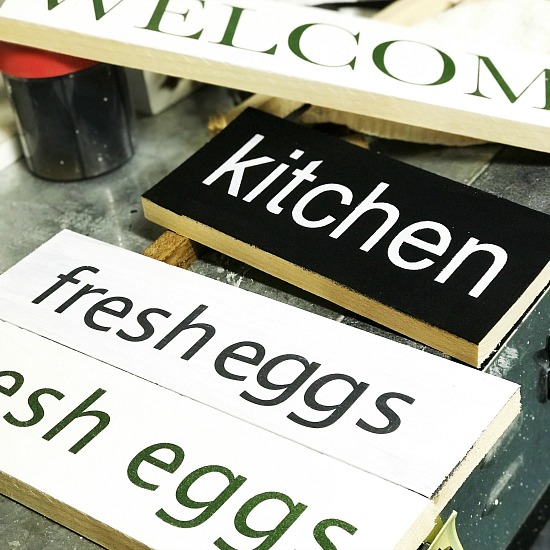 DIY Rustic Signs Using a Vinyl Cutter